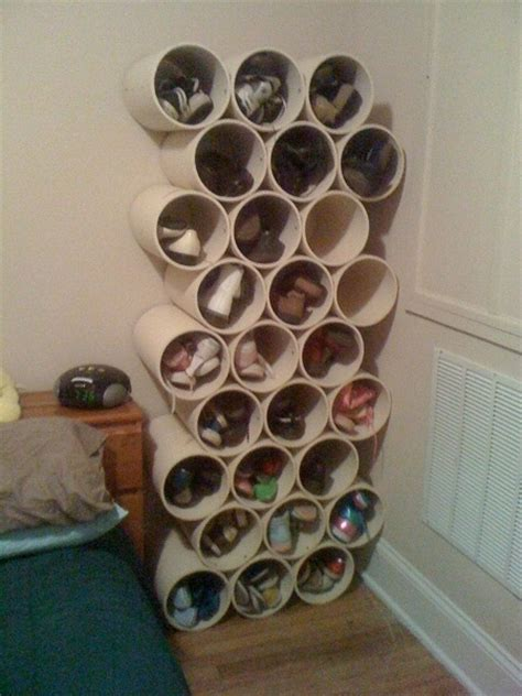 build simple pvc pipe shoe storage rack step