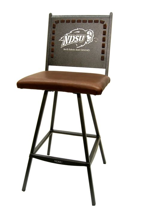 north dakota state university bison bar stool
