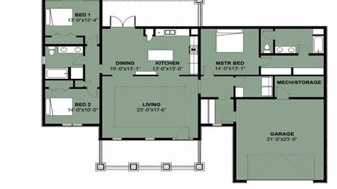 Simple 3 Bedroom House Floor Plans Simple 3 Bedroom 2 Bath