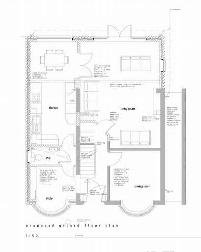 Extension Side Plans 1930s Loft Semi 1930