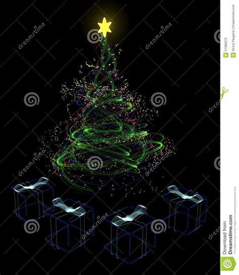 neon christmas tree concept stock photography image