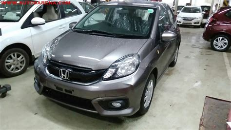 honda brio facelift with new interior spied at indian dealer