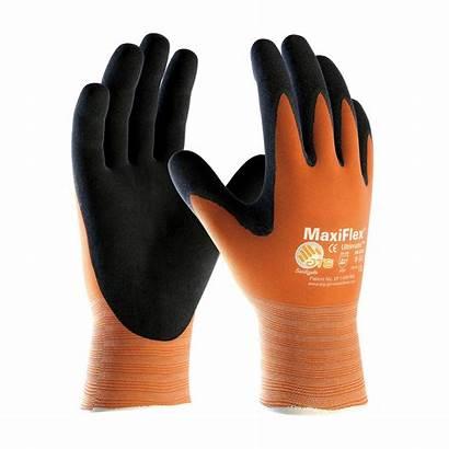 Gloves Coated Hi Vis Maxiflex Atg Industrial