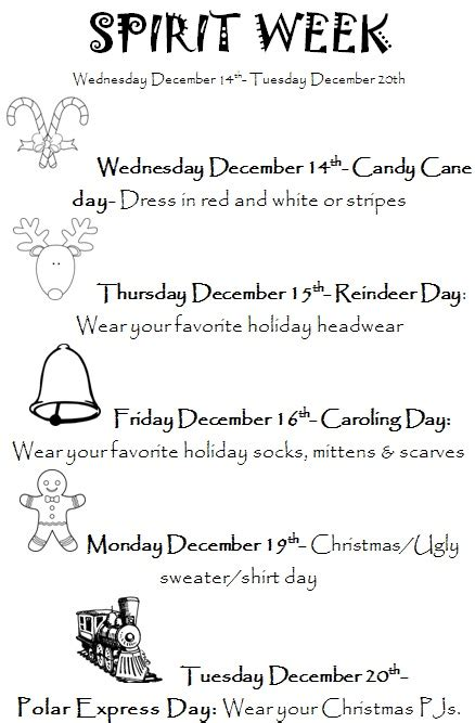holiday spirit week liberty elementary school districtschool