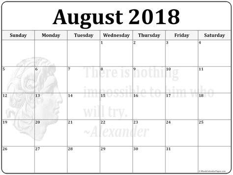 august calendar template august 2018 calendar 56 templates of 2018 printable calendars