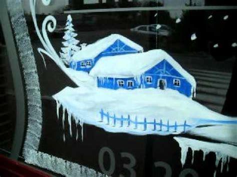 decor de noel pour vitrine d 233 co vitrines de noel en peinture