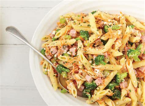 salade de p 226 tes 224 la ricotta et au jambon recette