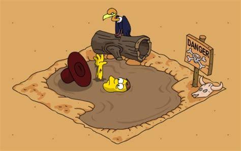 Sinking In Quicksand Stock Illustration