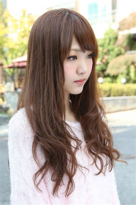 side view of korean long hairstyle hairstyles weekly