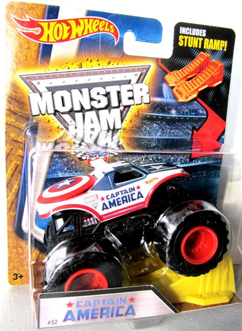 monster jam toys trucks wheels monster jam captain america diecast toy car
