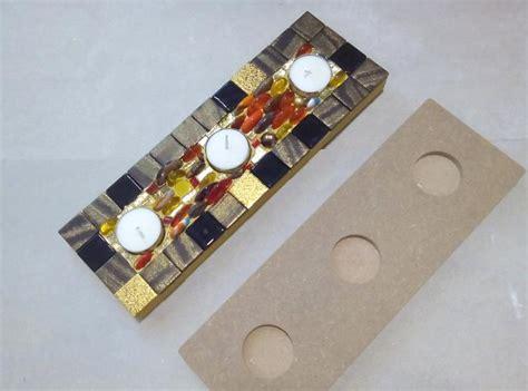 centre de table d 233 co no 235 l mosa 239 que centre 3 bougies pour mosa 239 que de verre chez made in mosaic