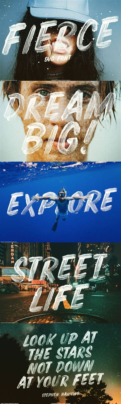 You can maximize all of its appeal into your designs. Fierce font SVG brush display type. Fierce font is a hand ...