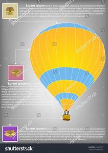 Infographic Diagram Of Hot Air Balloon Vector Illustration Eps 10  For Business And