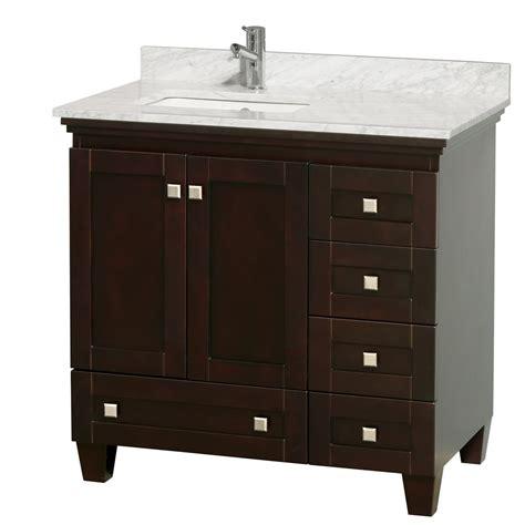 single sink vanity 36 quot acclaim single bathroom vanity set by wyndham