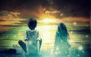 Anime, Fantasy, Art, Digital, Art, Photo, Manipulation, Artwork, Sunset, Wallpapers, Hd, Desktop, And