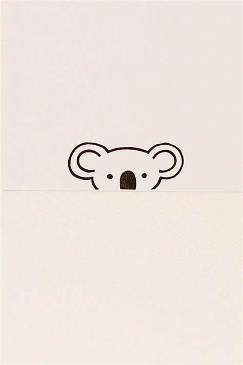 koala stamp handmade stamps cute stationary animal