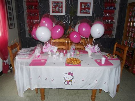 decoration anniversaire hello d 233 co de table anniversaire hello