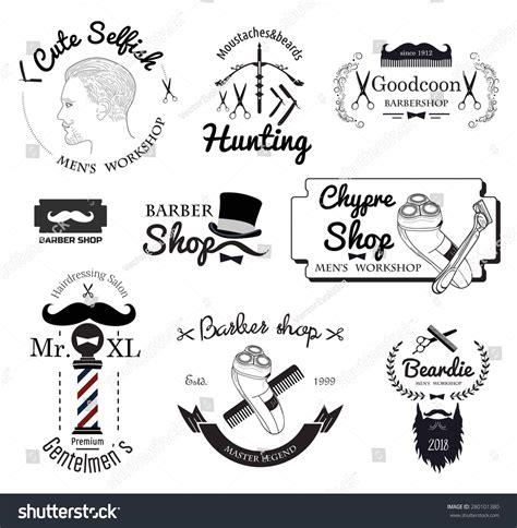 mens haircut logo barber shop logo stock vector