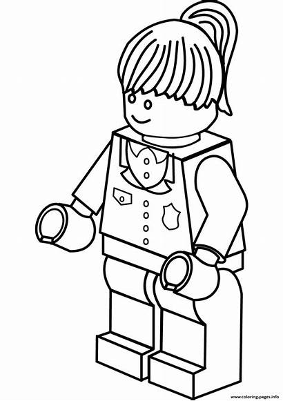 Coloring Police Woman Lego Pages Printable