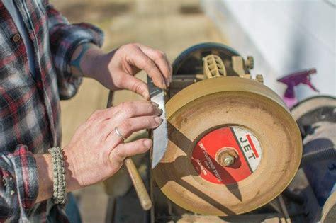 messer schleifen schleifbock gerben werkzeuge und ger 228 te handwerkliches messer