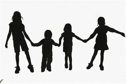 Silhouette Children Clipart Hands Human Advertisement
