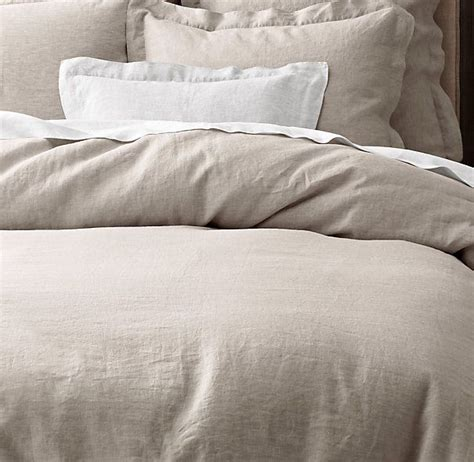 Neutral Bed Covers by Vintage Washed Belgian Linen Bedding Collection Master