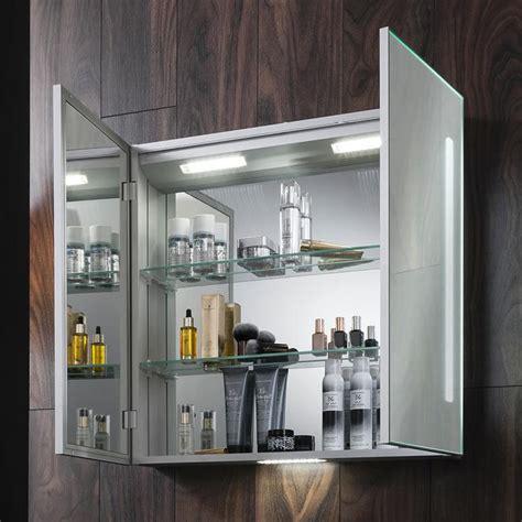 bauhaus allure mm led illuminated mirrored cabinet