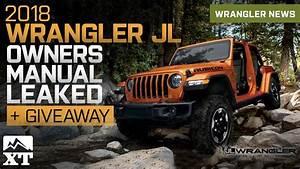 2018 Jeep Wrangler Jl Owners Manual  U0026 Guide Leaked
