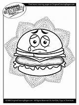 Coloring Cheeseburger Patty Melt sketch template