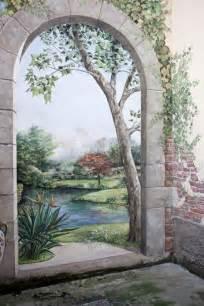 tromp loeil garden mural mural painting