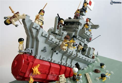 Lego Ship Sinking Titanic by Lego