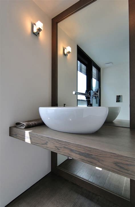 Vanity Mirror With Shelf by Rachcoff Vella Architecture Warms Up Modern Homes In