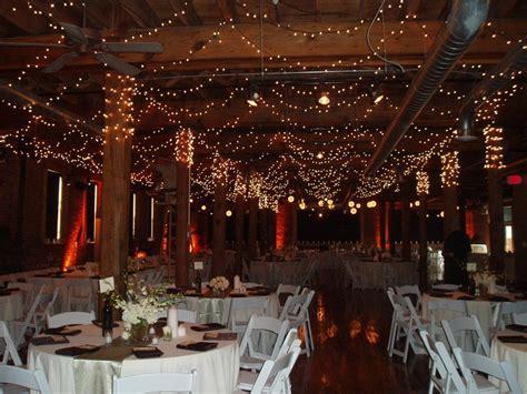 beautiful winter wedding reception venue  sparkling
