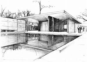 mies van der rohe architecture sketches - Google Search ...