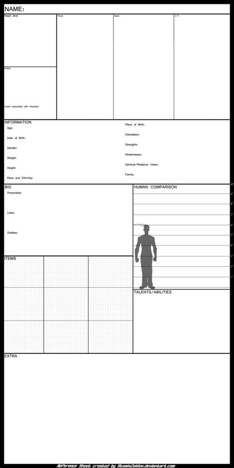 Oc Template Oc Reference Sheet Template By Atomixzaldox On Deviantart