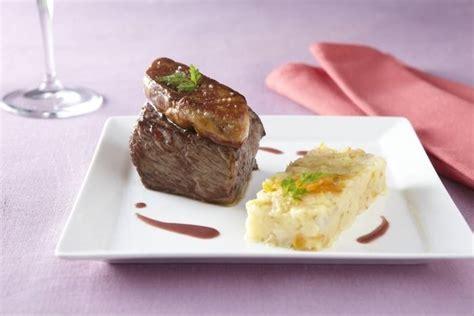 formation cuisine gastronomique recette de pavé de biche façon rossini écrasée de légumes oubliés aux fruits secs facile