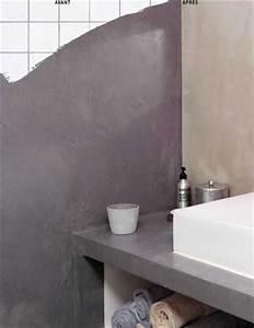 beton cire sur carrelage conseils pour faire en mural et sol With beton mural salle de bain