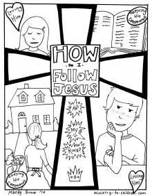 Follow Jesus Coloring Page