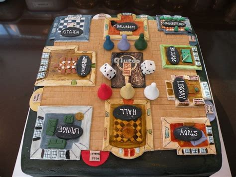 clue cake cakes fun  games mystery party food
