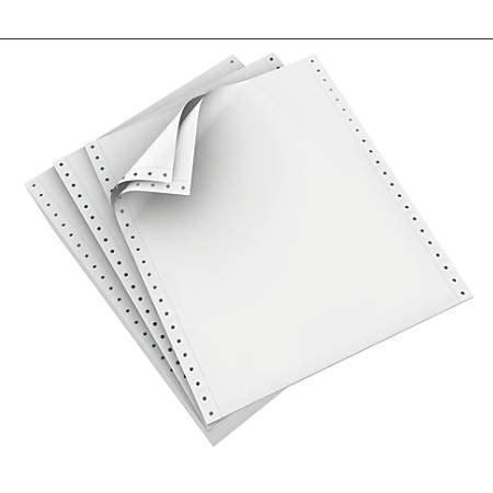 continuous form paper domtar continuous form paper 9 12 x 11 2 part carbonless