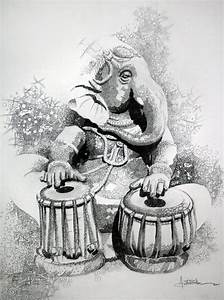 Ganesha Paintings Black And White | www.pixshark.com ...