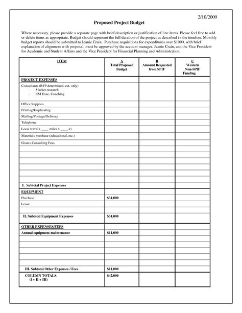line item budget template best photos of project budget project budget
