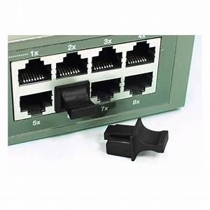 Rj45 Female Black Connector Dust Covers Ethernet Jacks