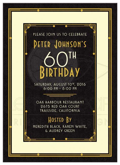 table decorations for birthday dinner 39 s 60th birthday invitation black gold deco