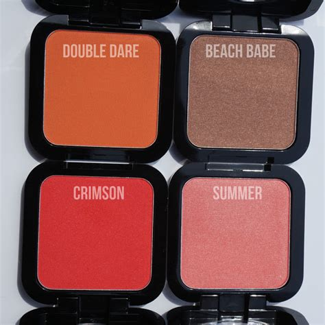 review nyx hd blushes in crimson