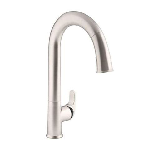 home depot kitchen faucets touchless kohler sensate ac powered touchless single handle pull