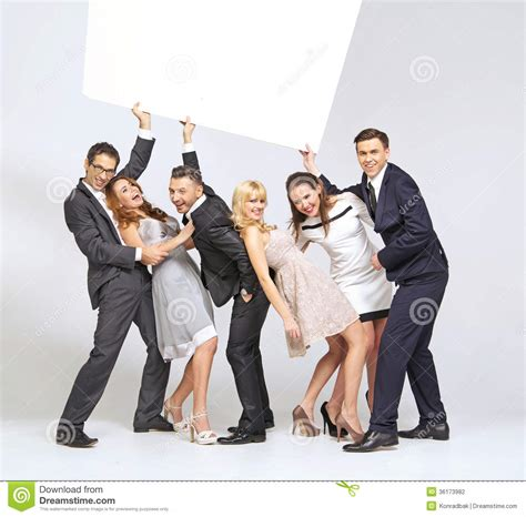 Funny Picture With Elegant People Stock Photography