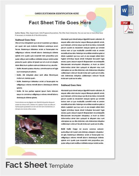 Fact Sheet Template Fact Sheet Template Cyberuse