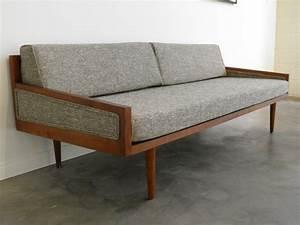 Vintage mid century modern furniture sofa caring an for Old modern furniture