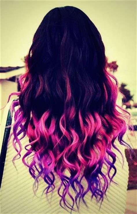 Radikal Records Hair Pink Purple Brunette Ombre